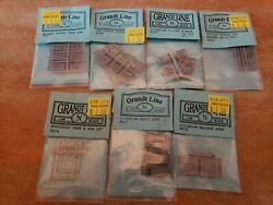 Lot Of 7 Assorted N Scale Grandt Line Windows And Doors New
