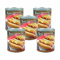 Vanee Chili Hot Dog Sauce With Meat, 110 Ounces, Pack Of 5
