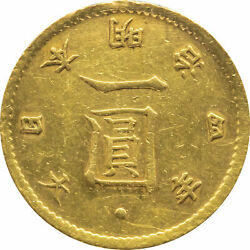 Old 1-yen Gold Coin Late 4th Year Of Meiji