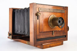 Antique Large Format Camera Scovill Mfg Waterbury Variation 1 5x8 Inch With Lens