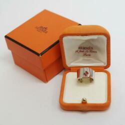Hermes Accessory Ring Size 10 Silver925 Candy With Original Box 11.9g Designer