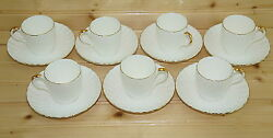 Minton Clifton Set Of 7 Demitasse Cups, 2 1/4 And 7 Demitasse Saucers, 4 1/2