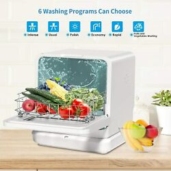 Portable Countertop Dishwasher Compact Dishwashers Fruit Vegetables Dishes 7.5l