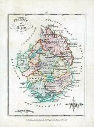 1776 Ireland - Rare Engraved Antique Map Of Ulster By Bernard Scale Bs2/13