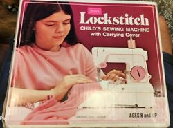 Vintage Sears Lockstitch Childs Sewing Machine With Carrying Cover