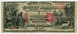 Fr. 404 1875 5 Ch 2233 National Bank Note Whitehall, New York Gr 12