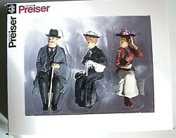 Preiser G Scale 122.5 Three Old Time Seated Figures 45056 -- Clothes Color 4
