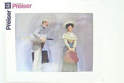 Preiser G 45052 Old Time Travelling Couple 122.5 Scale Figures