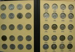 Washington Silver Quarter 83 Coin Set Complete 1932-1964 With Key 1932-d 1932-s