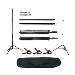 100 Pcs Photography Photo Backdrop Support Stand Set Background Kit W/ 3 Clips