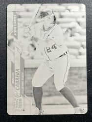 2020 Topps Update - Black Printing Plate - Miguel Cabrera One Of One 1/1