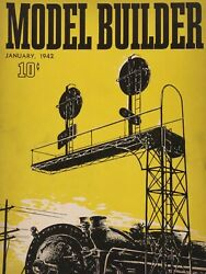 Model Builder January 1942 Lionel Model Railroad Guide Ideas Products