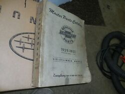 1929-1951 Chevrolet Master Parts And Accessories Catalog Book Auto Truck Bowtie