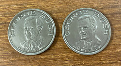 Vpotus Vice President Of The Us George H.w. Bush Sr 1-20-1981 2 Coins
