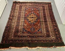 Estate Vintage Hand Woven Wool Oriental Kazak Area Rug Carpet 6.5and039 X 8.5and039