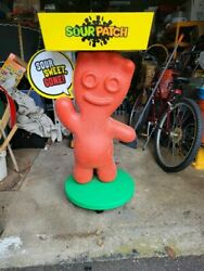 Rare Sour Patch Kids Character Store Display With Tray Candy Rack Over 3ft Wheel