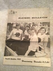Greenville College 1955 Alumni Bulletin Il Homecoming Issue With News And Photos