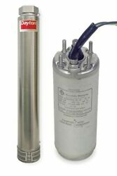 Dayton 7yt16 Submersible Deep Well Pump Unassembled 2 Hp 230v Ac 3 Wires