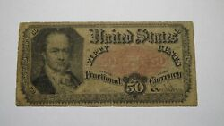 1875 .50 5th Issue Fractional Currency Note Bank Stamp Act Civil War Fifth