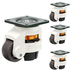 Leveling Machine Casters Heavy Duty Retractable Feet Wheels For Workbench 4 Sets