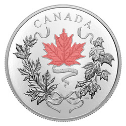 2021 10 Oz. Pure Silver 100 Coin - Our National Colors Canada Low Mintage 800
