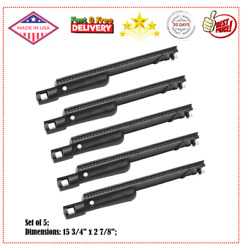 15 3/4 Cast Iron Burner Replacement For Aussie,charbroil, Bakers And Chefs 5pcs