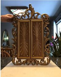 Vintage Homco Syrocco Jewelry Box Wall Hanging Cabinet Sarah Coventry 1973 Rare