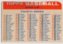 1957 Topps Checklist 4/5 Blony Trimmed/marked 626090