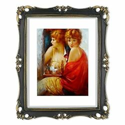 Picture Frame Antique Frame Vintage Photo Frames 8x10 With Mat In 11x14 Black