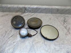 Small Lot Automotive Accessory Lights W/small Wired Milk Glass Lens And 1 Mirror