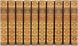 James Boswell. Life Of Samuel Johnson. Extra Illustrated 10 Vols. Leather Bound