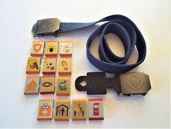Cub Scout Buckles Belt And Metal Badges