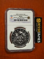 2009 5 Canada Silver Maple Leaf Vancouver 2010 Olympics Ngc Ms69 1 Oz .9999
