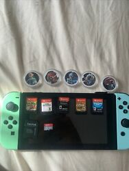 Nintendo Switch Animal Crossing Edition+ 5 Games Pro Controller 64 Gb Ds Card