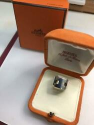 Hermes Accessory Ring Size 50 Silver Sv925 Used With Original Box Fashon Jewelry