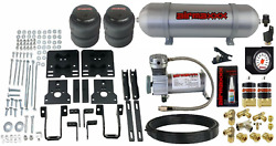 Air Over Load Helper Spring Kit W/white Gauge And Tank For 2005-10 Ford F250 4x4