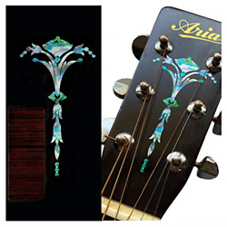 Inlay Sticker Decal For Guitar Headstock - Old Torch - Abalone Mix