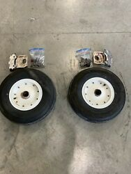 Cleveland Wheelsbrakes And Backplate 6.5x10 M/n 40-40b 1963 Cessna 310g