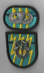 12th Special Forces Group - Beret Flash Oval Di Crest Wings
