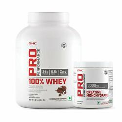 Gnc Chocolate Supreme 2kg 100whey Protein Andcreatine Monohydrate 250g Unflavour