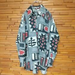 Issey Miyake Is Design Shirt Gray Polyester Long Sleeve Size M Men Used