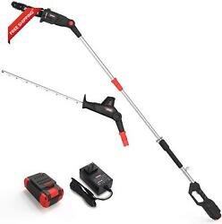 Zaker 40v 21.3 Pole Hedge Trimmer Cordless With 9.5 Inch Chain Saw Attachment,