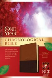 Nlt One Year Chronological Bible Tutone Brown Tan Leather Like By No Author The