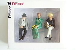 Preiser G Scale 122.5 Three Old Time Seated Figures 45055 -- Clothes Color 3