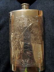 Vintage Orvis Trout Fishing Pewter Flask 8oz Rare Model 3163600 Great Condition