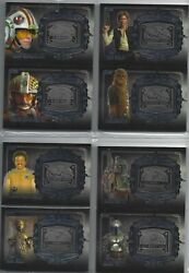 Star Wars Galactic Files 2 2014 Complete Set 30 Medallion Cards - Very Rare