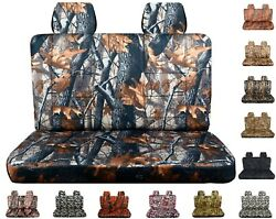 Camouflage Seat Covers Fits Ford F150 Truck 92-96 Front Bench With Headrests