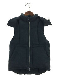 Engineered Garments Menand039s Down Vest 100 Wool Gray Color Size S Used