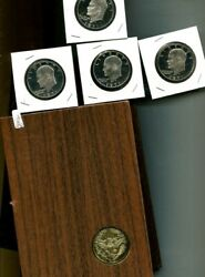1971 S Eisenhower Silver Dollar Proof Lot Of 8 5257p