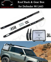 Roof Rack Rail Side Mounted Gear Box Fits For Defender 90 110 L663 851 2020-2022
